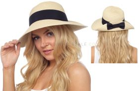 GL734 Summer Hats With Black Bow