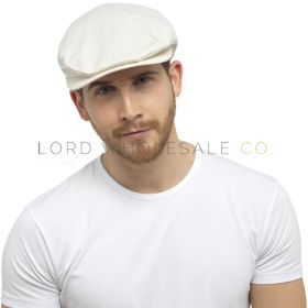 GL798 Cream Linen Flat Caps