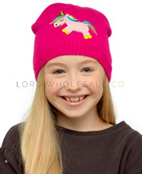 Girls Thermal Knitted Unicorn Hats 12 pieces