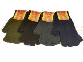 Mens Handy Thermal Fingerless Gloves