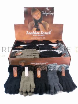 Ladies Feather Touch Boutique Gloves 24 pairs