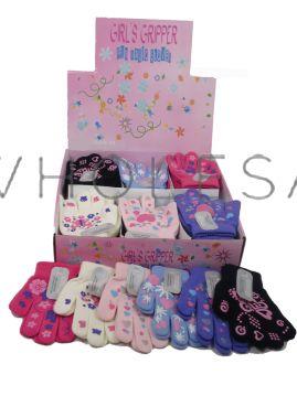 Girls Fun Magic Gripper Gloves in Display Box 36 pairs