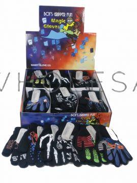 Boys Fun Magic Gripper Gloves in Display Box 36 pairs