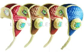 Babies Fun Quilted Trapper Hats with Fleece Lining 12 pieces