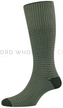 Indestructible Fancy Marl Half Hose Socks by HJ Hall HJ4