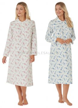 MA25957 Floral Brushed Cotton Nightdress by Marlon