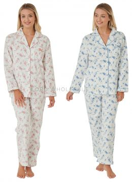 MA25958 Floral Brushed Cotton Pyjamas by Marlon