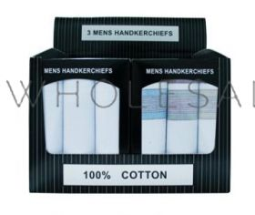 Mens Handkerchiefs 3 Pack Boxed