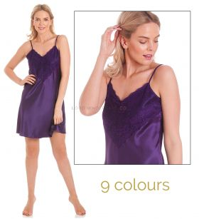 N48 English Made Satin Short Nightdress
