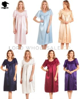 N56 English Made Satin Nightdresses