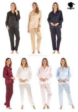 PJ1 Lady Olga Satin Pyjamas