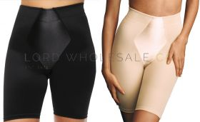 Ladies Firm Control Long Leg Shapers With Satin Panel by Beauforme