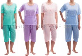 Cotton Rich Jersey Cropped Leg Pyjamas by Romesa/Lucky 10 pieces