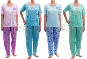 Cotton Rich Jersey Short Sleeved Pyjamas by Romesa/Lucky 10 pieces