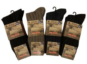 SE011BIG Big Foot Wool Blend Boot Socks