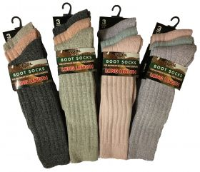 SE026 Ladies Long Length Wool Boot Socks