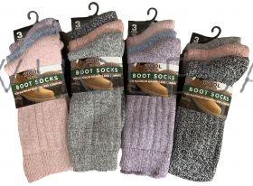 SE026 Ladies Wool Blend Boot Socks