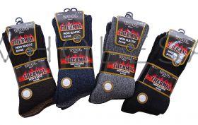 Mens 2.1 Tog Thermal Non Elastic Lambs Wool Blend Socks 6-11