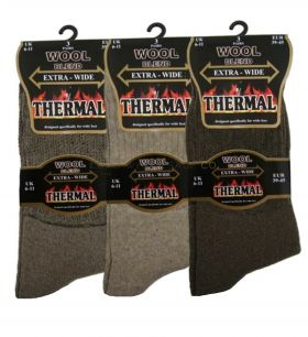 SE110 Thermal Wool Blend Extra Wide Socks