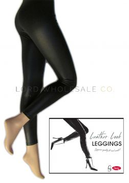 Leather Look Leggings by Silky