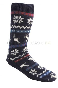 SK060 Men's Fairisle Slipper Socks
