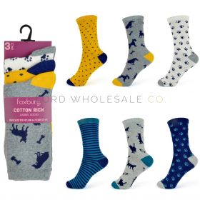 Ladies Cotton Rich Socks by Foxbury 3 pair pack 12 pairs,