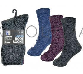 Storm Ridge Ladies Boot Socks 3 Pair Pack - 18 pairs