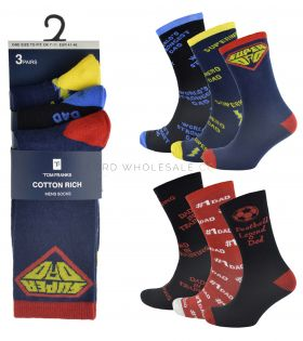 SK639 Super Dad and Football Legend Socks