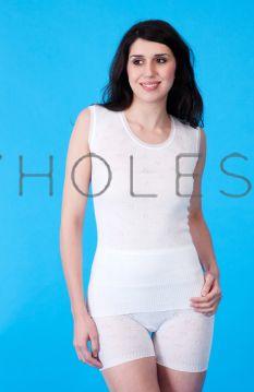 Snowdrop Ladies 100% COTTON Built Up Shoulder Spencers Plain 6 Pieces
