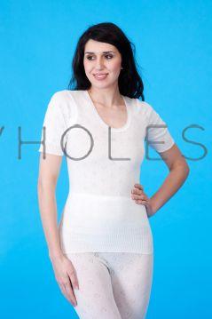 Snowdrop Ladies THERMAL Short Sleeve Plain Spencers 6 Pieces