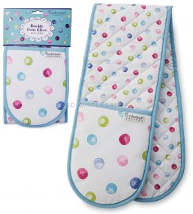 DG1312 Spotty Dotty Double Oven Gloves