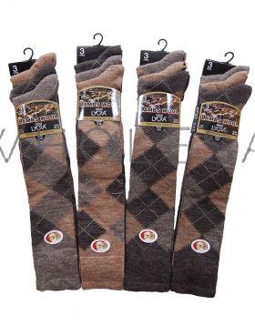 Mens Argyle Lambs Wool Blend Long Hose Socks