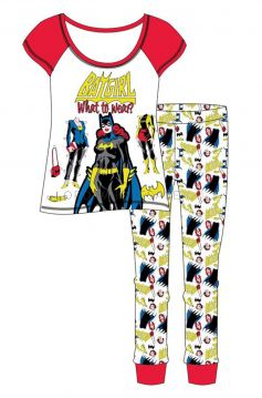 Z01_29740 Batgirl Ladies Pyjamas