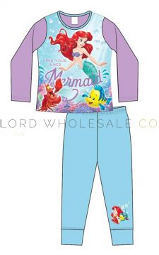 Girls Older Little Mermaid Pyjamas 9 pieces