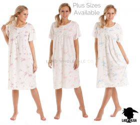 0104 Lady Olga Short Sleeved Nightdress