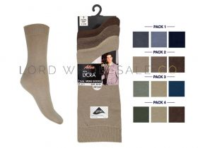 Mens 6-11 3 Pair Pack Cotton Lycra Socks