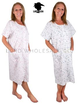 1084 Wholesale Button Through Nightdress