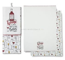 1440 Wine A Bit Tea Towels by Cooksmart