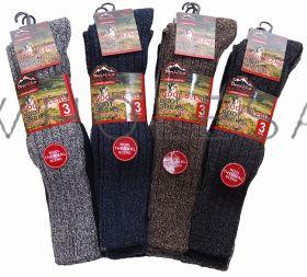 Mens Long Thermal Wool Blend Boot Socks