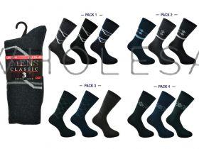 1705 Mens 3 Pack Suit Design Socks by Kry Club