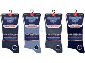 1830 Comfort Cuff Blues Non Elastic Socks
