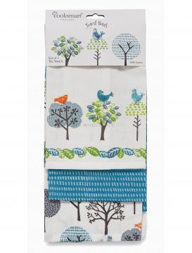 1848 Forest Birds 3 Pack Tea Towels by Cooksmart