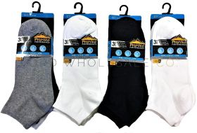 Men's Assorted Cotton Rich Trainer Socks 3 Pair Pack 6-11 by Pro Hike