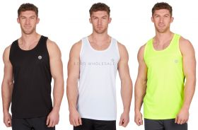 21A1377-8-9 Men's Activewear Sleeveless Vest Tops
