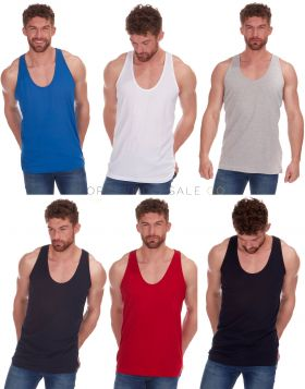 21A1395 Men's Plain Sleeveless Vests