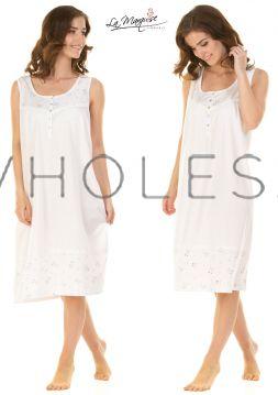 23326 Dots Bouquet Sleeveless Nightdresses