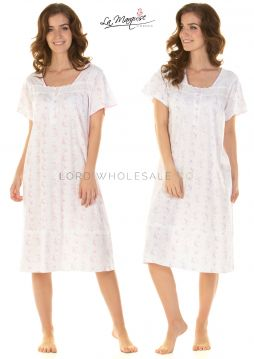 25300 County Fair Short Sleeved Nightdresses by La Marquise