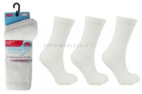 2644 Ladies Diabetic Sports Socks White
