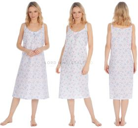 34B1558 Strappy Poly Cotton Nightdresses