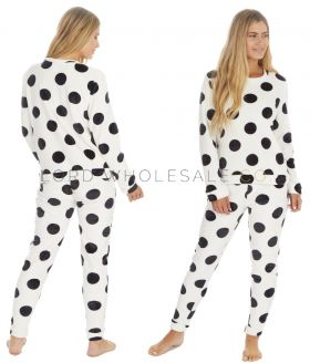 Ladies Spot Print Flannel Fleece Twosie by Forever Dreaming 6 Pieces,